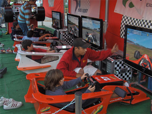 ALQUILER SIMULADOR FORMULA1 ESTATICO www.medirflash.com